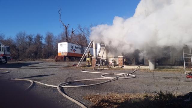 TRUCK RUNS AFTERNOON HOUSE FIRE