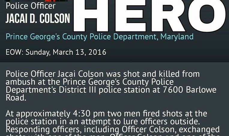 PRINCE GEORGES COUNTY MOURNS THE LOSS OF POLICE OFFICER