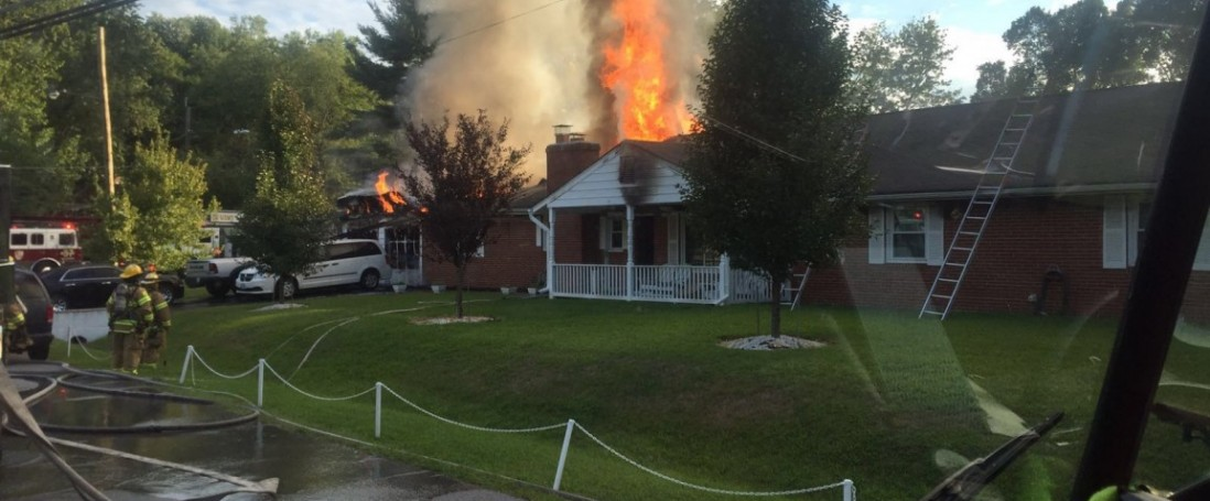 WAGON AND PUMPER TAKE IN 20 HOUSE FIRE